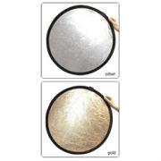 Odrazná deska 107cm, stříbrno/zlatá